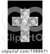 Clipart 3d Diamond And Silver Cross Pendant Royalty Free Vector Illustration