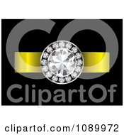 Clipart 3d Diamond Engagement Ring With A Gold Band Royalty Free Vector Illustration
