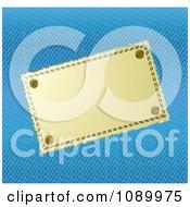Blank Cloth Label And Blue Denim Background