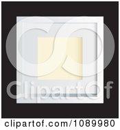 Clipart 3d White Photo Frame On Black Royalty Free Vector Illustration