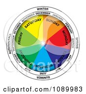 Clipart Colorful Calendar Wheel Royalty Free Vector Illustration