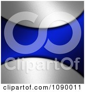 Clipart Navy Blue Wave Over Bright Silver Royalty Free Illustration