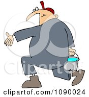 Clipart Plumber Carrying A Full Bucket Of Water Royalty Free Vector Illustration by Dennis Cox