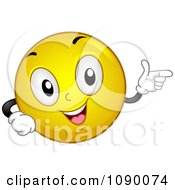 Clipart Smiley Emoticon Pointing Royalty Free Vector Illustration