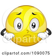 Clipart Smiley Emoticon Pouting Royalty Free Vector Illustration