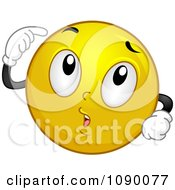 Clipart Smiley Emoticon Thinking Royalty Free Vector Illustration