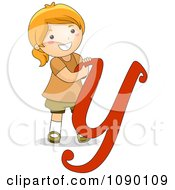Clipart Letter Y Girl Child Royalty Free Vector Illustration