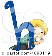 Clipart Letter H Boy Child Royalty Free Vector Illustration