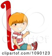 Clipart Letter L Boy Child Royalty Free Vector Illustration