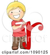 Clipart Letter R Boy Child Royalty Free Vector Illustration