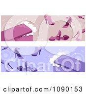Pink And Purple High Heel Shoe Website Banners