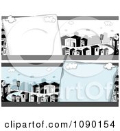Clipart Urban City Banners Royalty Free Vector Illustration