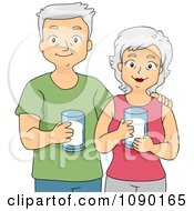 Senior Couple Drinking Milk