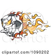 Clipart Flaming Soccer Ball Character Royalty Free Vector Illustration