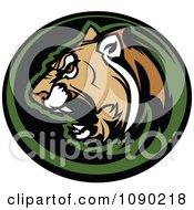Aggressive Cougar Mascot Circle