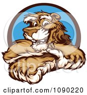 Clipart Friendly Cougar Mascot With Crossed Arms Royalty Free Vector Illustration by Chromaco