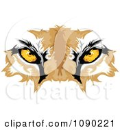 Clipart Cougar Mascot Eyes Royalty Free Vector Illustration