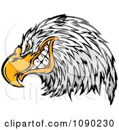Clipart Grinning Bald Eagle Mascot Royalty Free Vector Illustration by Chromaco