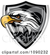 Clipart Bald Eagle Mascot Badge Royalty Free Vector Illustration