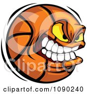 Clipart Aggressive Basketball Character Royalty Free Vector Illustration