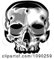 Clipart Dark Human Skull Royalty Free Vector Illustration by Chromaco