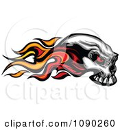 Clipart Flaming Demonic Skull Royalty Free Vector Illustration