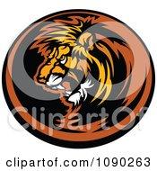 Dark Lion Mascot Circle