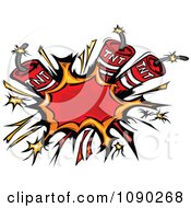 Clipart Burst Of Dynamite Explosives Royalty Free Vector Illustration