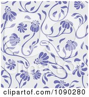 Clipart Purple Seamless Floral Pattern Royalty Free Vector Illustration by Cherie Reve