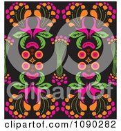 Clipart Seamless Colorful Kaleidoscope Floral Pattern Royalty Free Vector Illustration by Cherie Reve