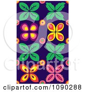 Clipart Seamless Pink Purple Orange And Yellow Floral Pattern Royalty Free Vector Illustration by Cherie Reve
