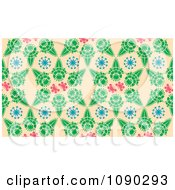 Clipart Seamless Kaleidoscope Blossom Floral Pattern Royalty Free Vector Illustration by Cherie Reve