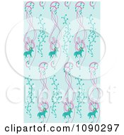 Clipart Seamless Blue Deer And Music Pattern Royalty Free Vector Illustration by Cherie Reve