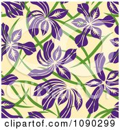 Clipart Seamless Purple Floral Pattern Royalty Free Vector Illustration