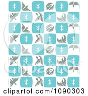 Clipart Seamless Blue Gray And White Flying Bird Background Royalty Free Vector Illustration