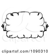 Black And White Cloud Like Floral Frame With Copyspace