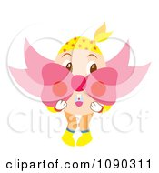 Clipart Surprised Easter Egg Holding A Bow Royalty Free Vector Illustration by Cherie Reve