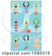 Clipart Different Ties On Blue Royalty Free Vector Illustration