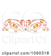 Clipart Pink Decorative Floral Rule Border Royalty Free Vector Illustration