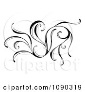Clipart Black And White Decorative Flourish Royalty Free Vector Illustration by Cherie Reve