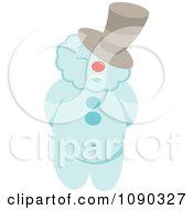 Clipart Jolly Snowman Wearing A Hat Royalty Free Vector Illustration