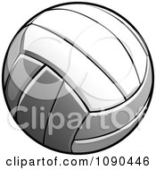 Clipart Flying Volleyball Royalty Free Vector Illustration by Chromaco