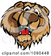Clipart Friendly Bear Mascot Face Royalty Free Vector Illustration