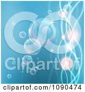 Clipart Background Of Bubbles In Water With Waves And Orbs Royalty Free Vector Illustration