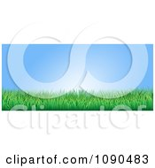 Clipart Blue Sky And Green Grass Website Banner Royalty Free Vector Illustration by AtStockIllustration