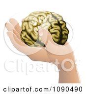 Clipart Human Hand Holding A Brain Royalty Free Vector Illustration