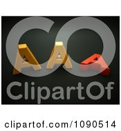 Clipart 3d Orange And Red AAA Notation Royalty Free CGI Illustration by chrisroll