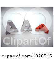 Clipart 3d Silver And Red AAA Notation Royalty Free CGI Illustration