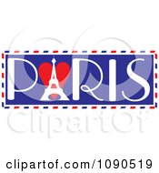 Clipart Paris Travel Trunk Sticker Design With The Eiffel Tower Royalty Free Vector Illustration