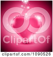 Clipart Magic Lights Sparkling On And Above A Pink Heart Royalty Free Vector Illustration